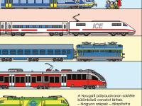 Vonatok a Nyugati pályaudvaron