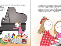 Maja és Zsófi zongorázik