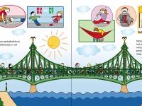 A gyalogosoknak átengedett nyári Szabadság híd