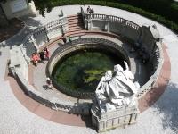A Duna hivatalos forrását jelző díszkút Donaueschingenben