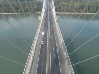 Kilátás a Megyeri híd tetejéről