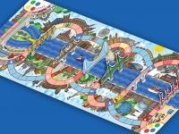 A Dunafutam társasjáték táblája
